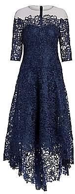 Teri Jon by Rickie Freeman Women's Floral Lace A-Line Dress