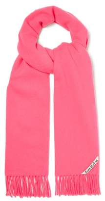 Acne Studios Canada Narrow Wool Scarf - Womens - Pink