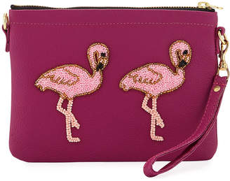 Tea & Tequila Flamingo Chain Clutch Bag, Pink