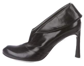CNC Costume National Leather Fold-Over Booties