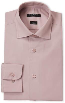 Isaac Mizrahi Dusty Rose Stretch Slim Fit Dress Shirt