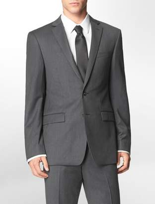 Calvin Klein body slim fit grey + blue pinstripe suit jacket