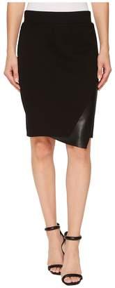 Tribal Pull-On 22 Knit Ponte Multi Panel Skirt Women's Skirt