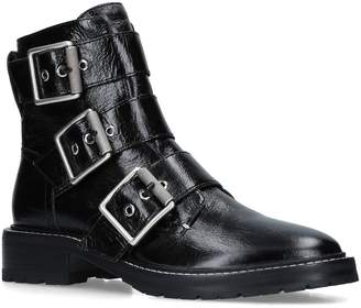 Rag & Bone Leather Cannon Buckle Boots