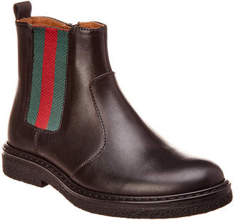 Gucci Web Leather Boot
