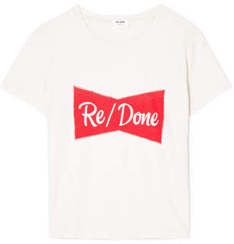 RE/DONE Printed Cotton-jersey T-shirt - White