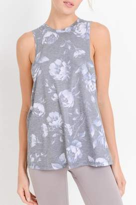 Mono B Shadow-Floral Muscle Tank