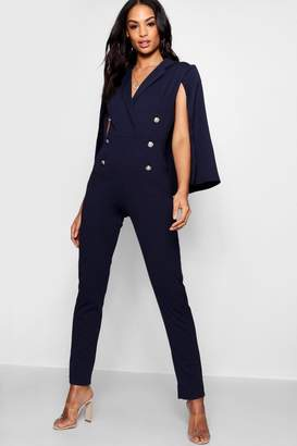 boohoo Military Caped Jumpsuit