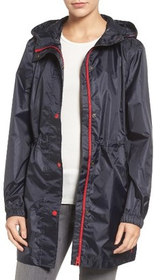 Women's Joules Right As Rain Packable Hooded Raincoat $74.95 thestylecure.com