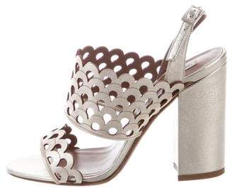 Tabitha Simmons Ilma Metallic Sandals w/ Tags