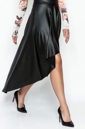 Sexy Diva Black High Low Skirt