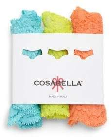 Cosabella Low-Rise Lace Thong/Pack of 3