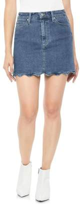 Joe's Jeans Bella Wavy Hem Denim Skirt