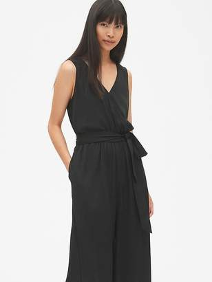Gap Cropped Wide-Leg Jumpsuit in Modal