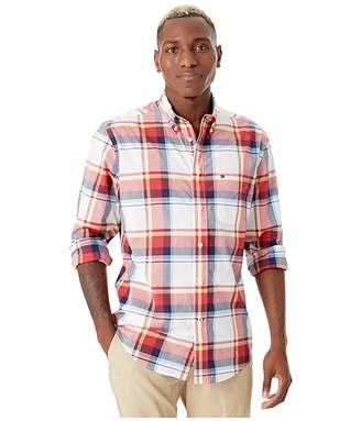 Tommy Hilfiger Adaptive Long Sleeve Mayfield Plaid Shirt