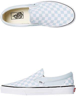 Vans New Women's Womens Classic Slip On Shoe Rubber Canvas Baby Blue