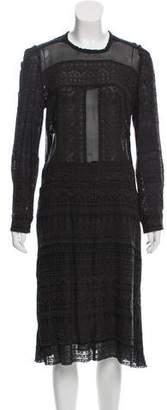 Isabel Marant Long Sleeve Midi Dress