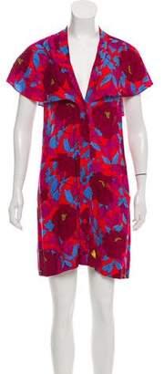 Diane von Furstenberg Floral Button-Up Dress
