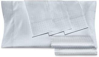 Aq Textiles Dobby Dot 6-Pc Queen Sheet Set, 1000 Thread Count Cotton Blend Bedding