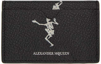 Alexander McQueen Black Dancing Skeleton Card Holder