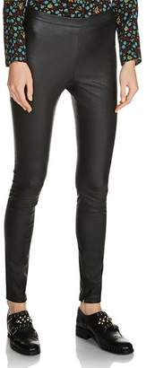 Maje Smarto Leather Leggings