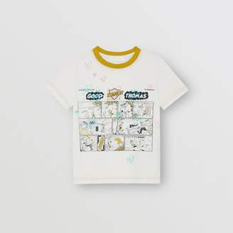 Burberry Comic Strip Print Cotton T-shirt