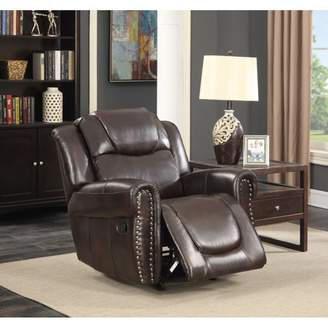Generic Savannah Dark Brown Bonded Leather Living Room Reclining and Rocking Chair