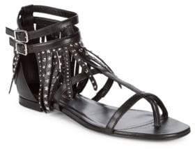Saint Laurent Studded Leather Sandals