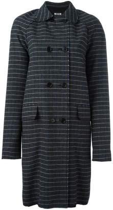 MSGM houndstooth coat
