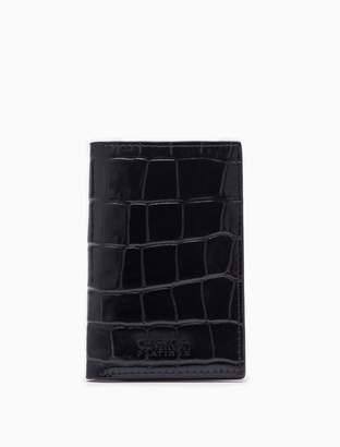 Calvin Klein embossed leather slim card case