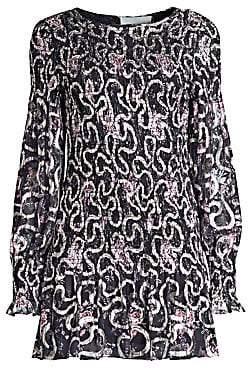 LoveShackFancy Women's Scarlett Chiffon Geometric Mini Dress
