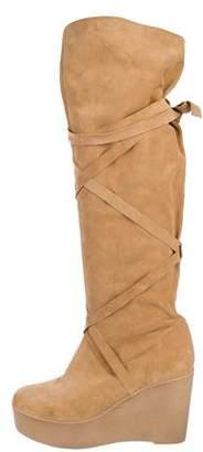 Robert Clergerie Suede Knee-High Boots