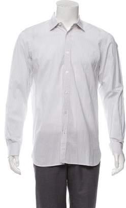Burberry Pinstripe Point-Collar Dress Shirt