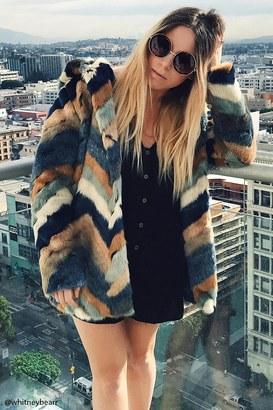 FOREVER 21+ Chevron-Pattern Faux Fur Coat $59.90 thestylecure.com