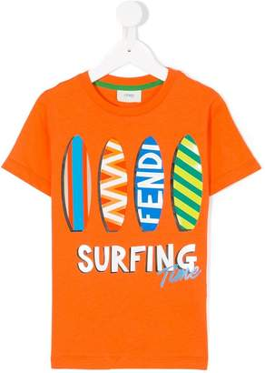 Fendi Surfing Time printed T-shirt