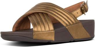FitFlop Lulu Padded Metallic Back-Strap Sandals