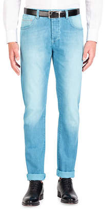 Isaia Men's Saturated Wash Denim Jeans