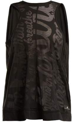 Adidas By Stella Mccartney - Aeroknit Performance Tank Top - Womens - Black
