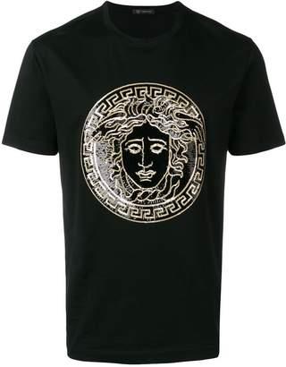 Versace sequin medusa logo T-shirt