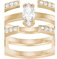 Swarovski Jewellery Ladies Rose Gold Plated Size L Gray Ring 5294981