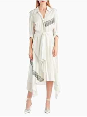 Jason Wu Silk Collared Long Sleeve Dress