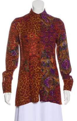 Christian Lacroix Bazar de Long Sleeve Button-Up Top
