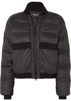 adidas by Stella McCartney Snake-print Quilted Shell Jacket - Black