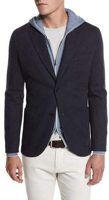 Loro Piana Cashmere-Blend Sweater Jacket