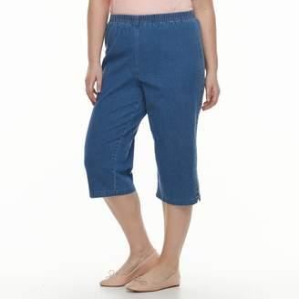 Croft & Barrow Plus Size Lace-Up Capri Jeans