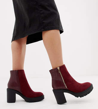 e04cbe82e07 Red Chunky Heel Boots For Women - ShopStyle Canada
