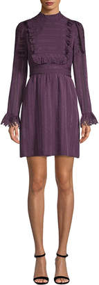 Anna Sui Ruffle Bib Shirtdress
