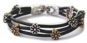 Lucky Brand Silver and Goldtone Flower Bracelet