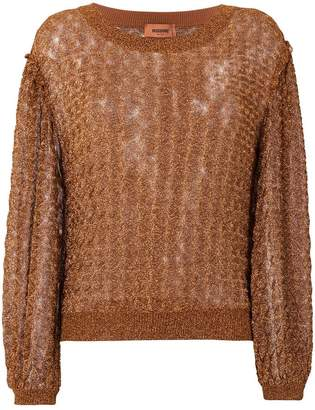 Missoni glitter-effect embroidered sweater