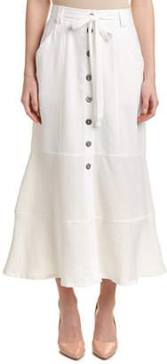Nanette Lepore Button Front Maxi Skirt